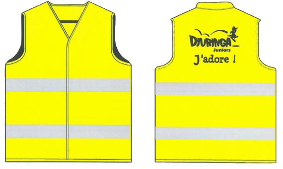 Gilet convoyage animateurs Djuringa Juniors