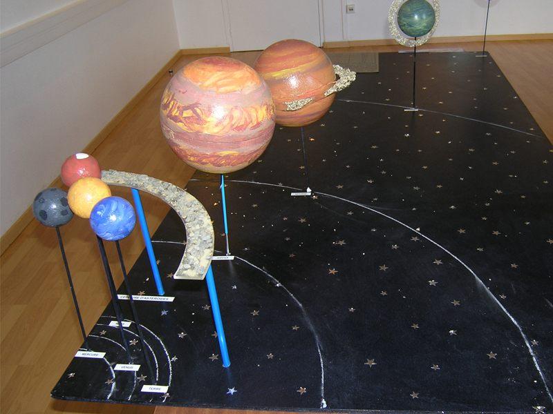 Maquette d'astronomie en colonie de vacances d'été