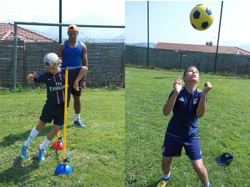 Jeune garçon suivant une formation de football