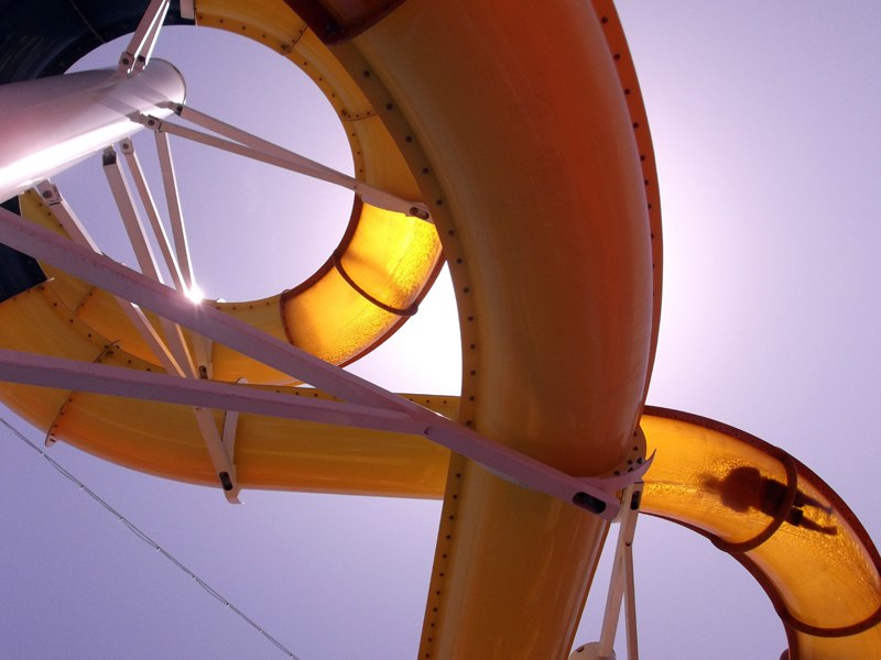 Toboggan de colonie de vacances à Aqualand