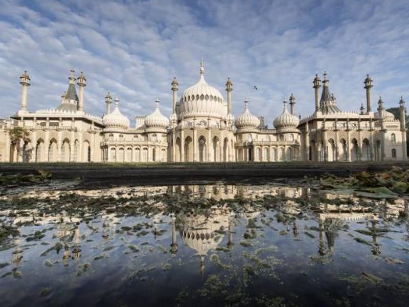 Le Royal Pavilion à Brighton en Angleterre en été