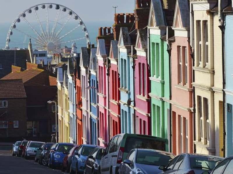 Les rues colorées de Brighton en Angleterre