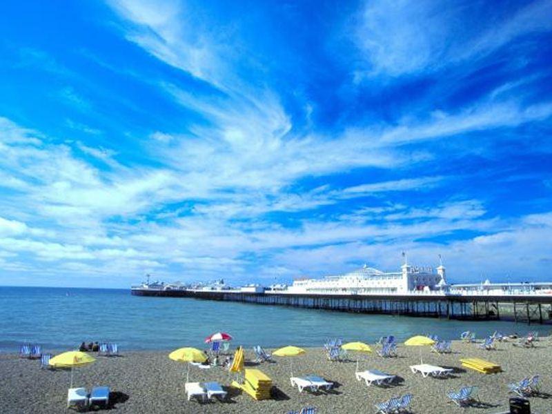 Plage de Brighton en Angleterre