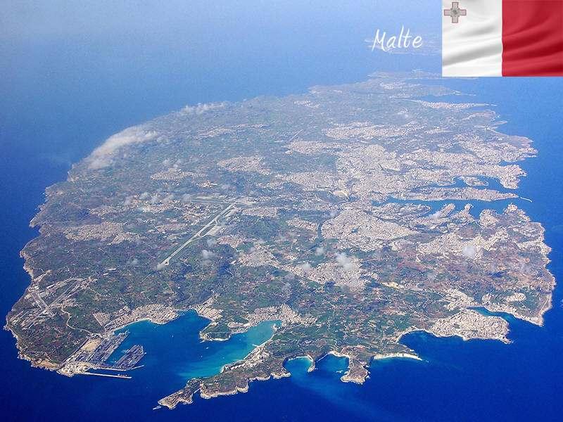 Malte vue du ciel cet été en colonie de vacances linguistique