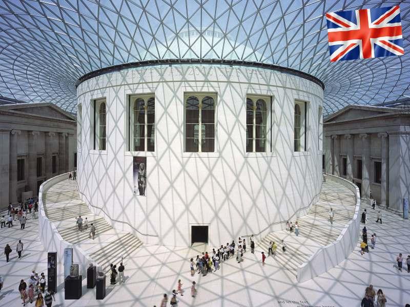 L'intérieur du British Museum de Londres en Angleterre
