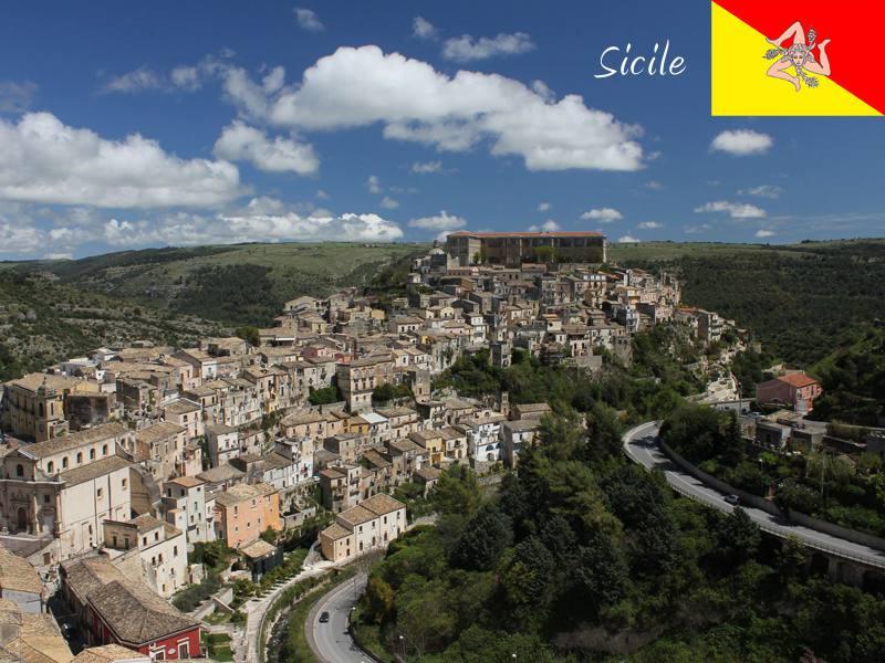 Vue sur les paysages de colonie de vacances en Sicile cet été