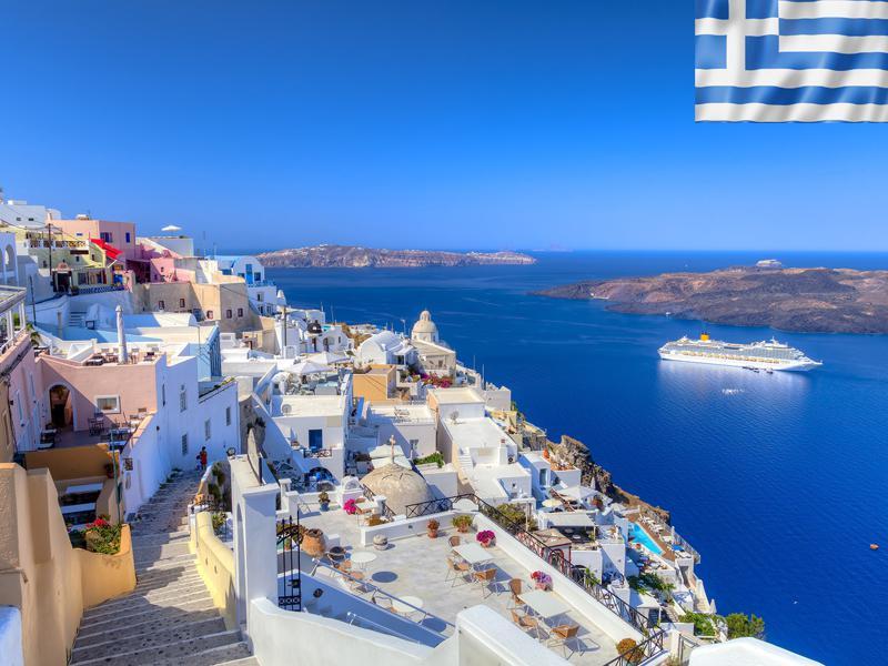 Paysage de colonie de vacances en Grèce pour ados
