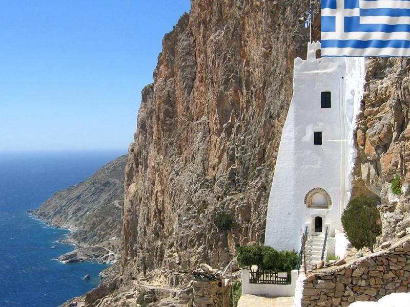 Paysage de Grèce cet été en colonie de vacances