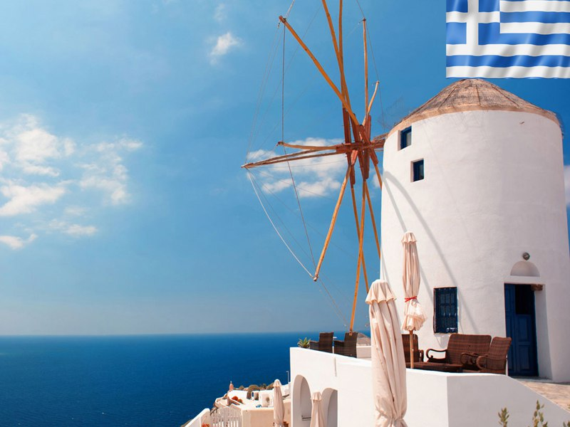 Paysage de colonie de vacances en Grèce pour adolescents cet été