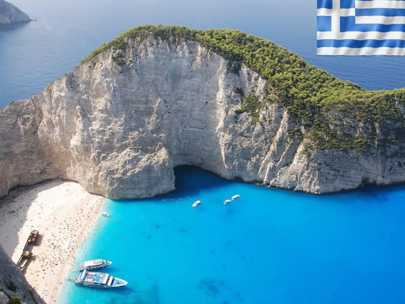 Vue sur les places paradisiaques de Grèce en colonie de vacances