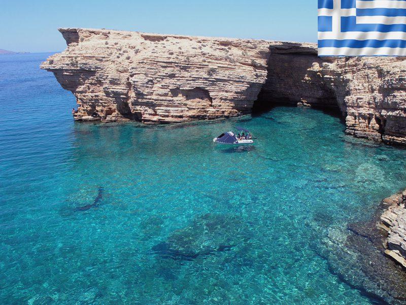 Criques en Grèce en colonie de vacances d'été pour ados