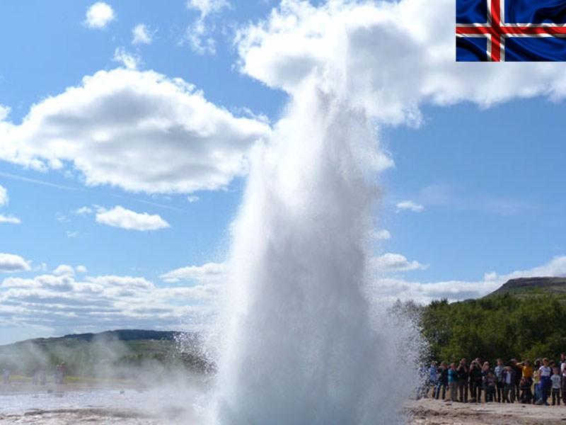 Geyser en Islande en colonie de vacances d'été ados