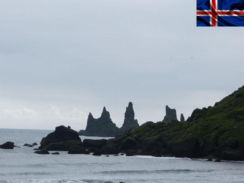 Vue sur les cotes cet été en Islande durant une colonie de vacances pour ados