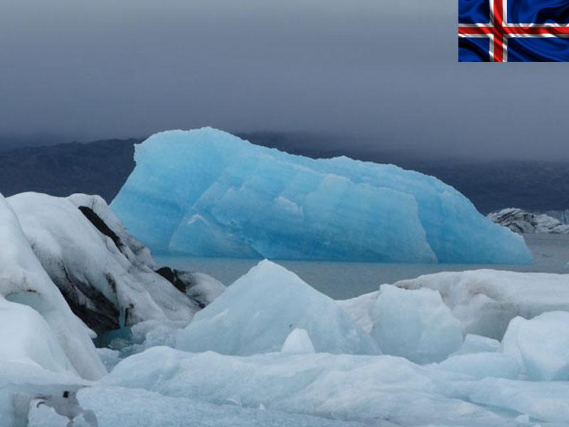 vue sur les glaciers d'islande en colonie de vacances pour ados cet été