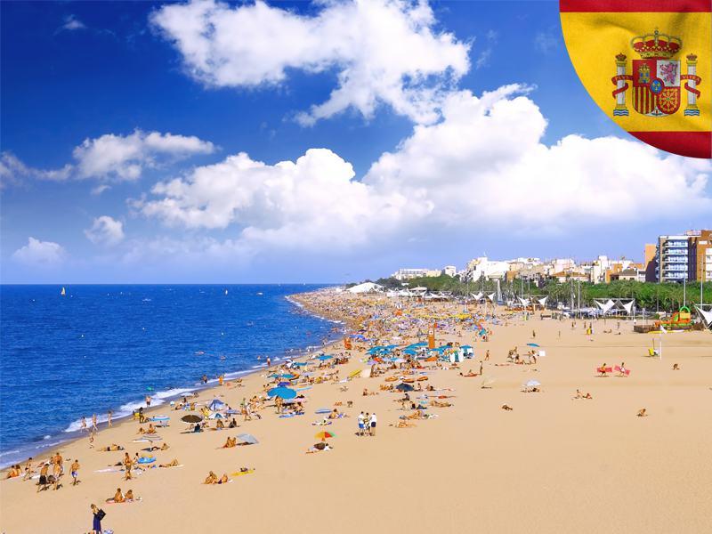 vue sur les plages d'Espagne en colonie de vacances d'été