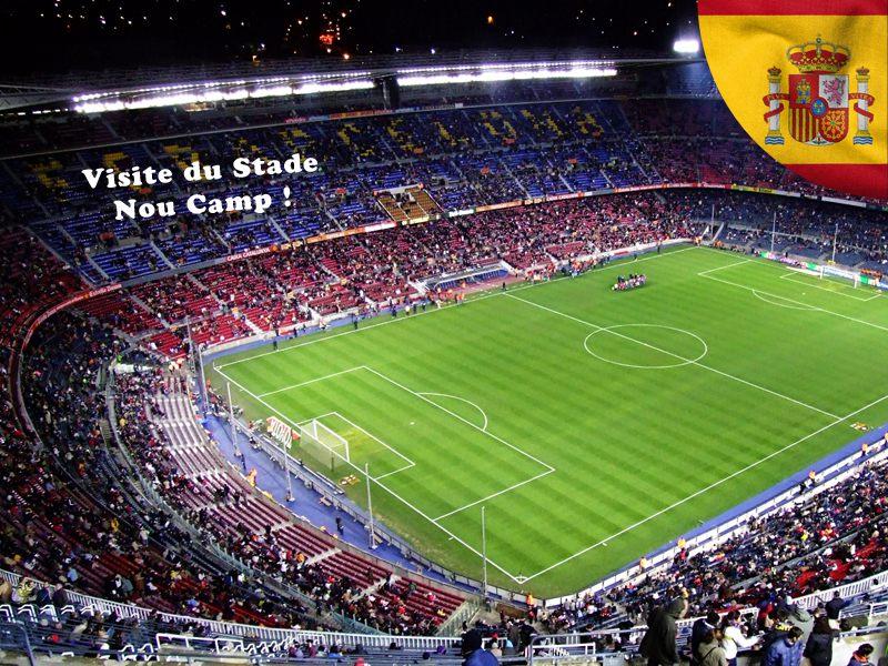 Visite du stade Camp nou en colonie de vacances en Espagne pour ados
