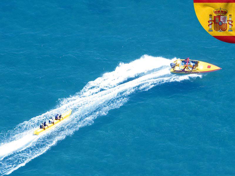 Jet ski en colonie de vacances en Espagne cet été