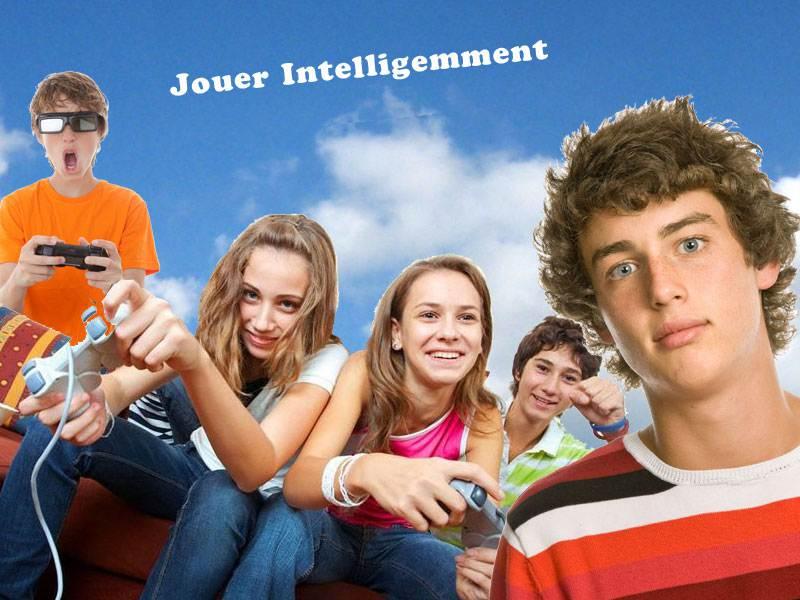 Adolescents en colonie de vacances pour geek jeux vidéos en été