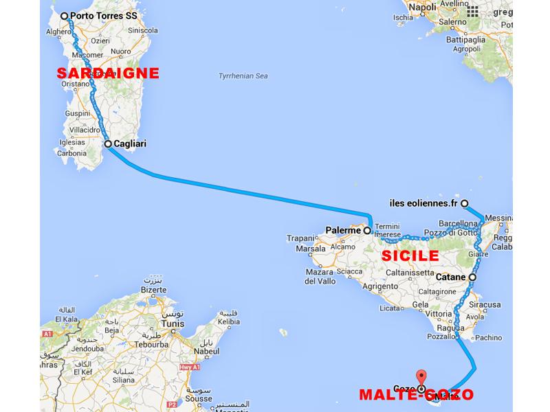 Itinéraire de colonie de vacances itinérante pour adolescents sur les plus belles iles d'europe