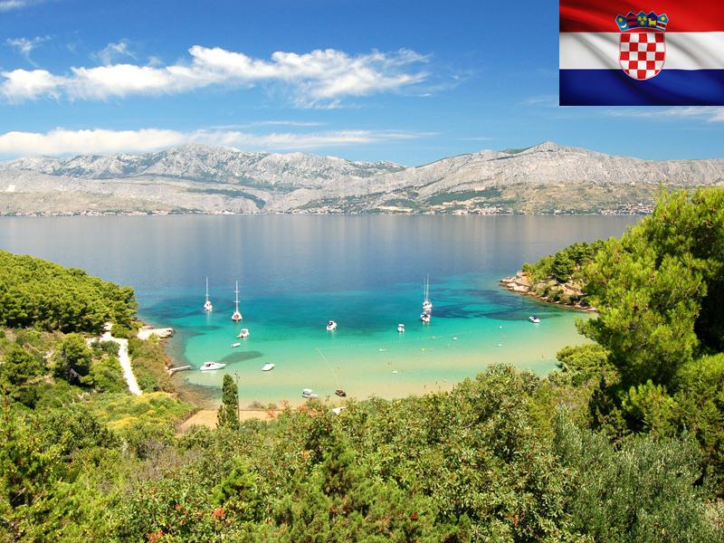 Lac vu en Croatie en colonie de vacances itinérante ce printemps