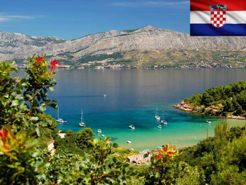 Vue sur un lac de Croatie