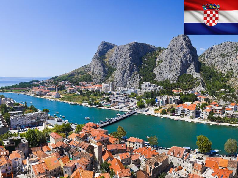 La Croatie vue du ciel au printemps