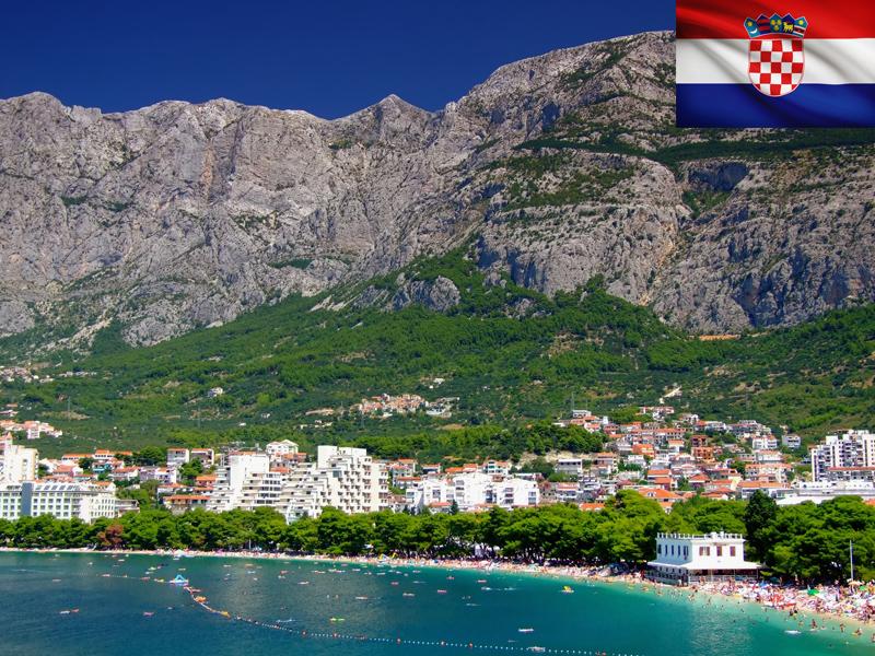Lac de Croatie vu en colonie de vacances itinérante pour ados