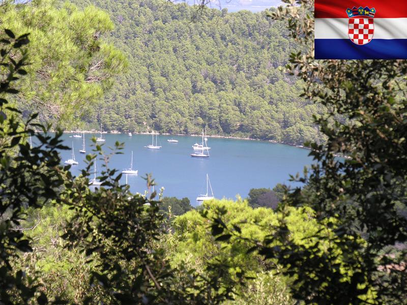 Vue sur un lac de Croatie en colonie de vacances ce printemps