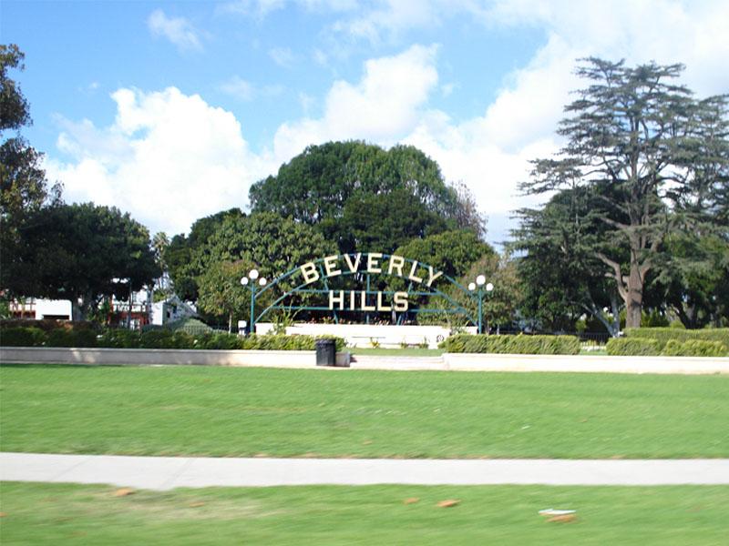 Paysage de Beverly Hills en colonie de vacances d'été pour ados