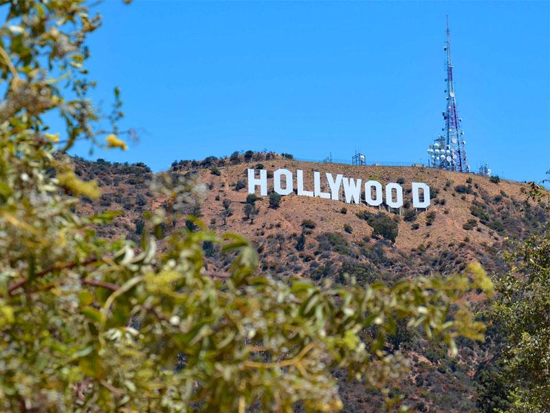 Pancarte Hollywood en colonie de vacances cet été aux etats unis