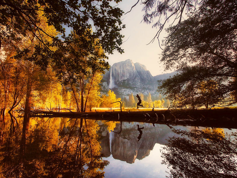 Ados visitant le Yosemite park en colonie de vacances cet été