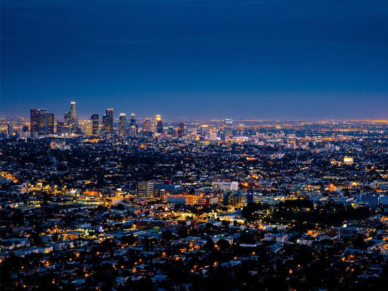 Los Angeles by night en  colonie de vacances ados été