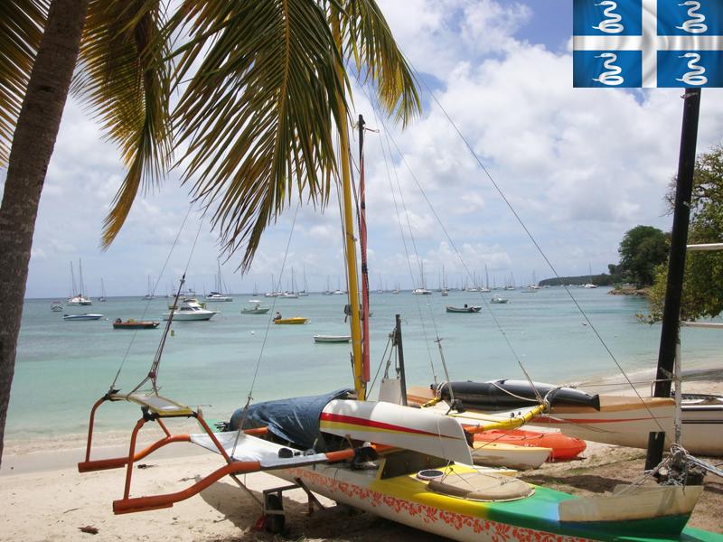 Bateaux en bord de mer en colonie de vacances en martinique cet été