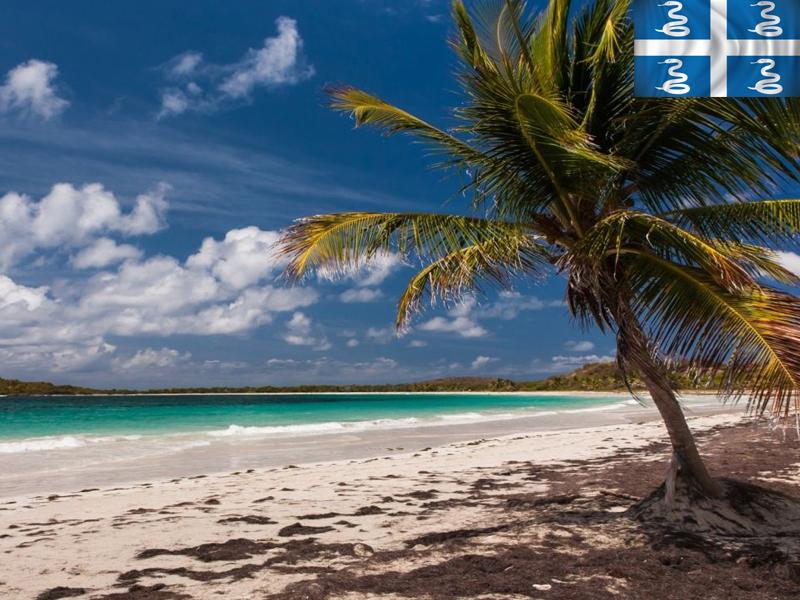 plage martiniquaise en colonie de vacances d'été