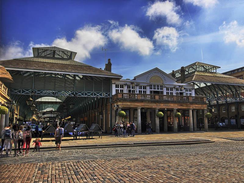 Vue sur le Covent Garden Market de Londres en Angleterre