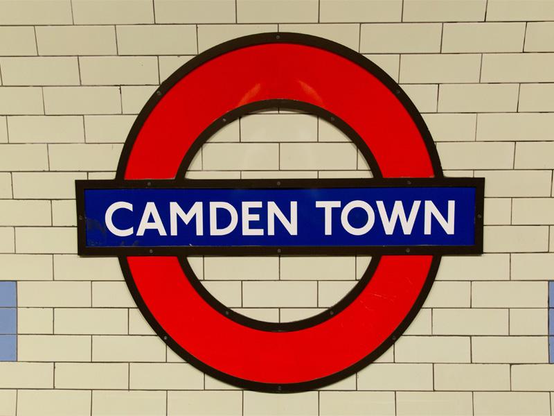 Station de métro de Camden Town en Angleterre