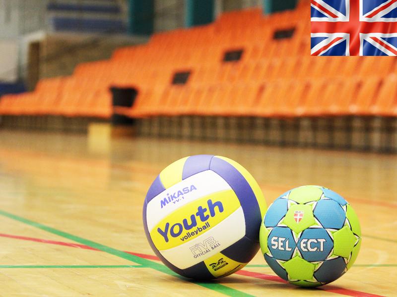 Ballons de sports utilisés pour un stage sportif pour apprendre l'anglais