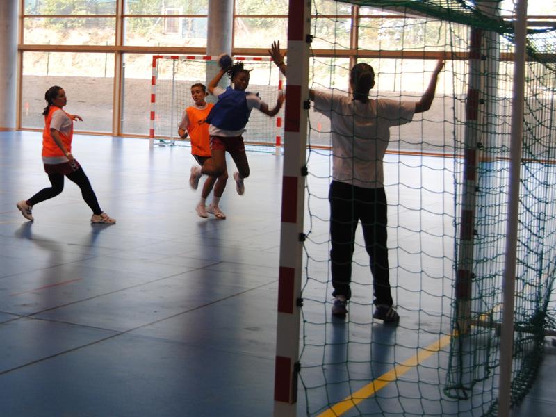 Match de handball cet été durant le stage sportif