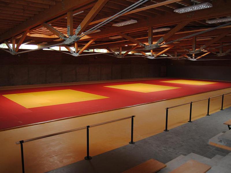 infrastructures de judo pour le stage sportif de judo de cet été