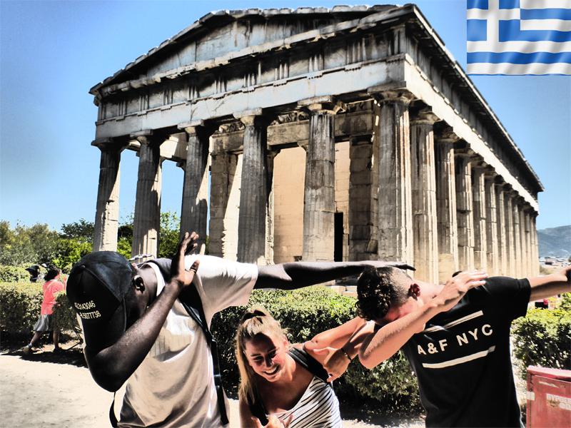 ados effectuant le dab en colonie de vacances en Grèce cet été