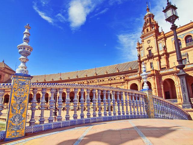 Vue sur la plaza de Espana cet été en colonie de vacances en Espagne