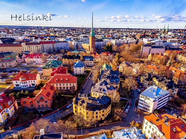 Helsinki vu du ciel en colonie de vacances d'été pour ados