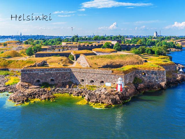 Helsinki vu de haut en colonie de vacances cet été