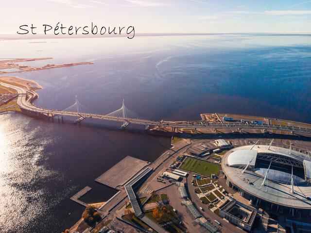 Saint petersbourg vu du ciel en colonie de vacances cet été