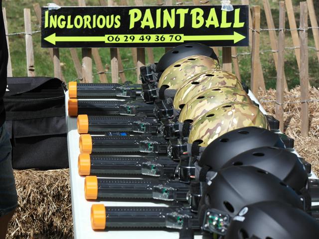 Matériel pour paintball et laser game extérieur en colonie de vacances