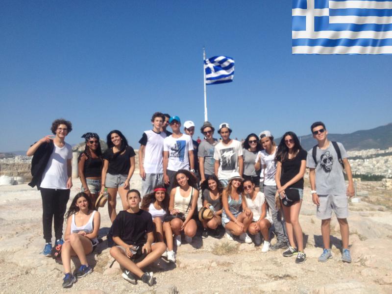 groupe d'adolescents en colonie de vacances en grèce cet été