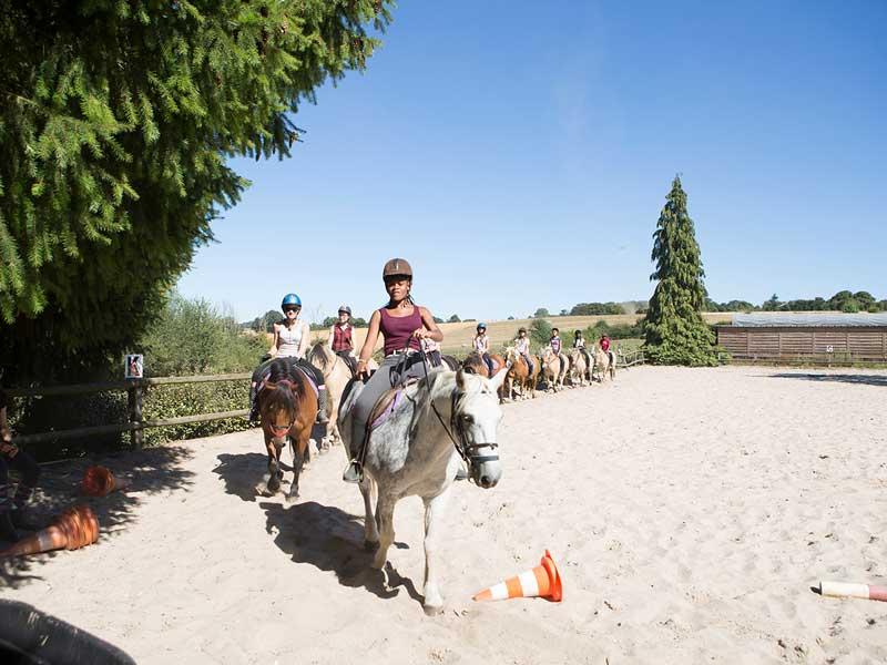 Séance d'équitation en colonies de vacances