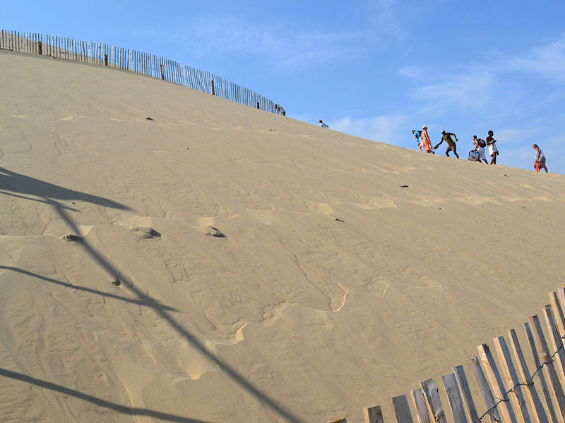 Vue sur la Dune du Pilat en été