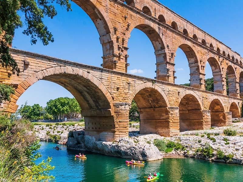 Pont du Gard en été