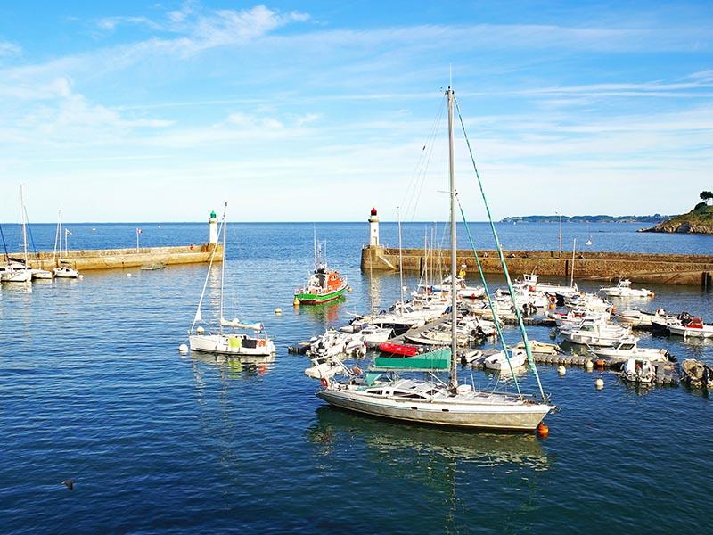 Port de Bretagne en été